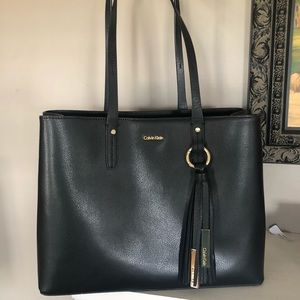 Calvin Klein black leather bag